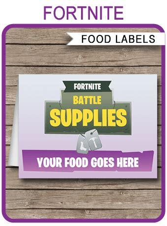 fortnite printable food labels fortnite birthday party