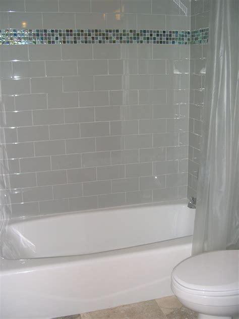 bathroom shower tub tile ideas white and blue glass tiled