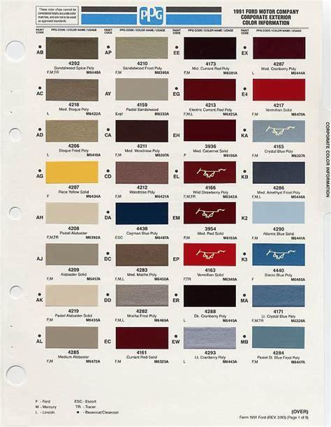 1991 ford explorer paint codes