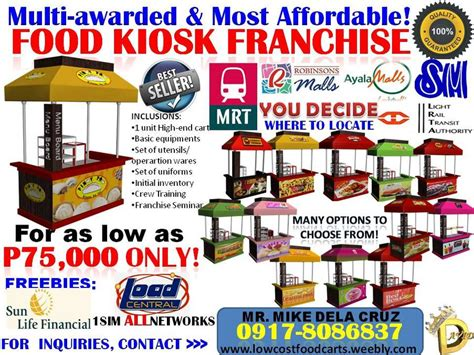 cuisine low cost food cart package low cost food carts