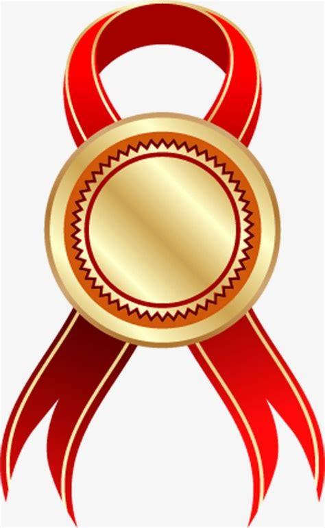 medalha de ouro de seda vermelha ribbon png ribbon