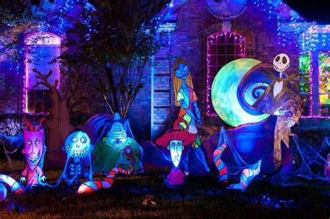 nightmare before decorations outdoor lights and decorations reimagined from