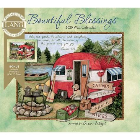 bountiful blessings special edition wall calendar