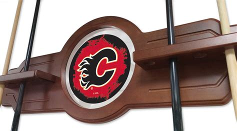 Bar Accessories Calgary by Calgary Flames Cue Rack In Black Finish With Official Logo