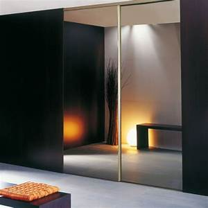 incroyable porte coulissante miroir sur mesure 7 portes With miroir a coller sur porte coulissante