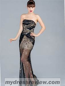 Black Prom Dress With Gold & 2017-2018 - MyDressReview