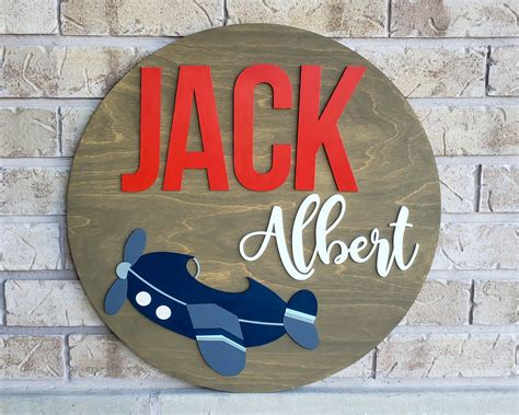 This sweet little train comes in three different sizes and has a perfect nursery feel. Airplane Nursery Decor, Round Name Sign, Boys Room ...