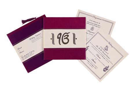 Sikh Wedding Card In Purple With Ek Omkar Symbol Wedding
