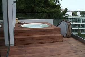 wellness whirlpool sauna pool bader ausstellung munster With französischer balkon mit hot tub im garten