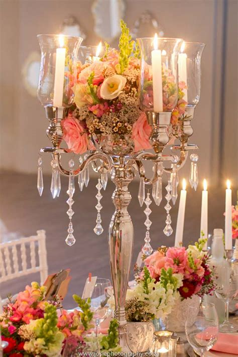elegant vintage wedding ideas  peach silver josie