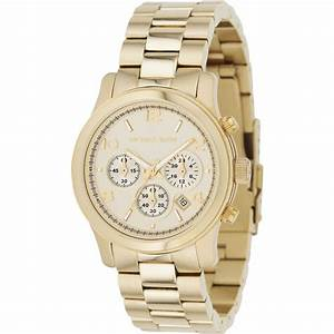 Michael Kors Ladies' Runway Gold Chronograph Watch MK5055 ...