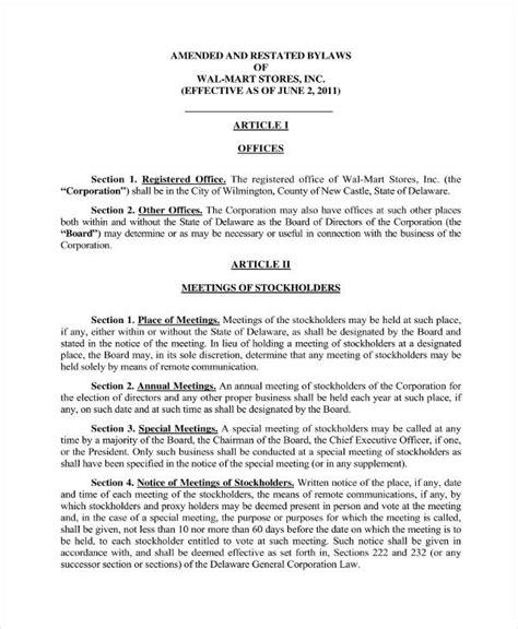 9 free corporation bylaws templates pdf free premium templates