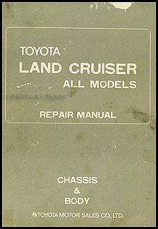 1994 toyota land cruiser repair shop manual original 1972 1974 toyota land cruiser chassis repair shop manual original
