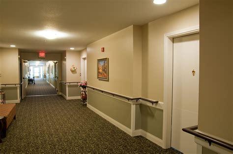 corridor handrails assisted living senior living remodel