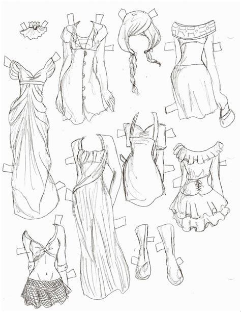 Anime Dress Drawing - Drawing Art Library