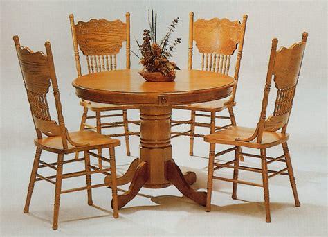 oak kitchen table set wooden table chair designs an interior design oak round