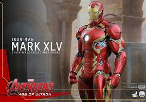 Hot Toys' 1/4th Scale Iron Man Mark XLV Figure – Plastic ...