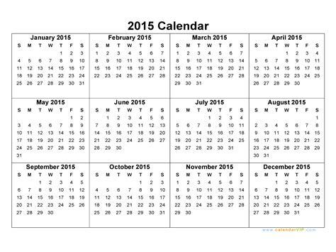 Free Downloadable 2015 Calendar Template 2015 Calendar Blank Printable Calendar Template In Pdf