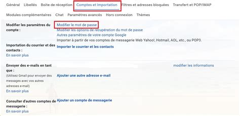Modification Mot De Passe Gmail by Comment Changer Mot De Passe Gmail Modifier Mot De