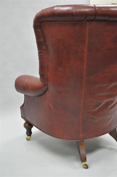 oversized lillian august brown tufted leather