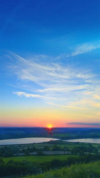 Sky Sunset Nature Summer Land Peace Flare