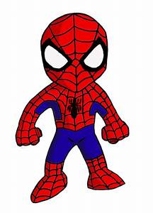 Spider-Man clipart cute - Pencil and in color spider-man ...