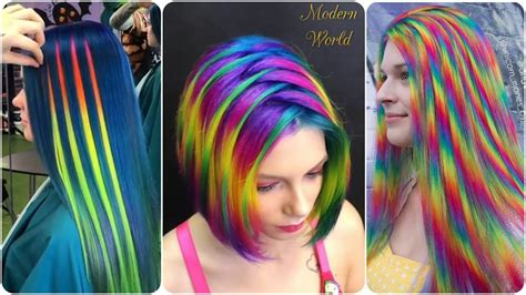 Color Hairstyles For Hair by Beautiful Rainbow Hair Transformation Color Hair
