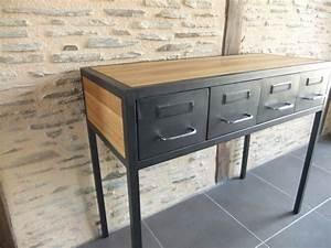 Meuble Entree Industriel : meuble tv industriel avec ancien vestiaire heure cr ation ~ Teatrodelosmanantiales.com Idées de Décoration