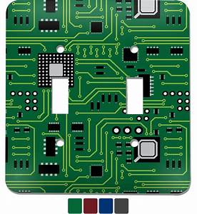 Circuit Board Light Switch Cover  2 Toggle Plate