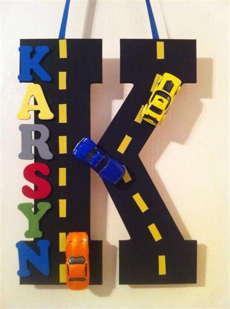 Boy Car Names by Karsyn S Matchbox Wheel Car Bedroom Door Sign Home