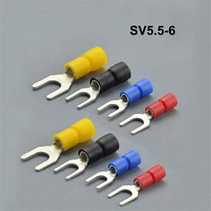 500pieces Sv5 5 6 Fork Type Pre Insulated Electrical
