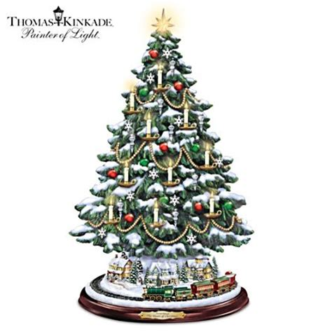christmas tabletop musical rotating christmas tree decoration kinkade tabletop tree with lights motion and decor the