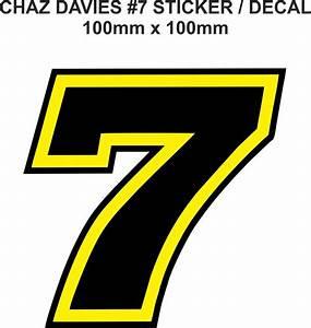 Chaz Davies Number 7 Decal Sticker 100mm X 100mm EBay