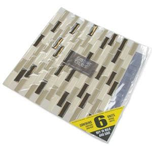 Smart Tiles Bellagio Mosaik 6 Pack by Smart Tiles 9 13 In X 10 25 In Peel And Stick Murano