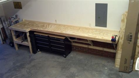 cool work bench  garage journal board workbench