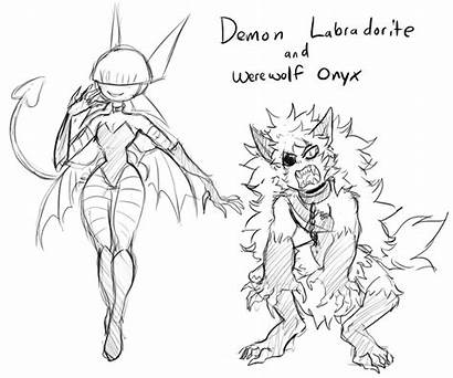 Themed Werewolf Halloween Drawing Demon Onyx Getdrawings