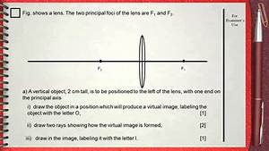 Q 02      L6  Lenses       Ch 5 Waves Igcse Past Papers        Ray Diagram