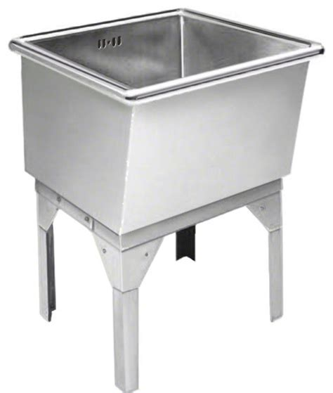 Stainless Steel Utility Sinks Free Standing by Just Free Standing Laundry Tub 27x27x16 14