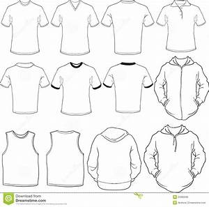 Male Shirts Template Stock Vector  Illustration Of