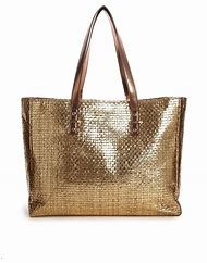Gold Metallic Beach Bag