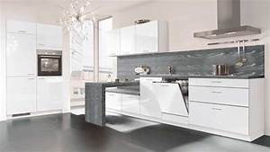 cuisine blanche et grise top cuisine With idee deco cuisine avec cuisine blanc et gris anthracite