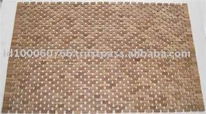 Tapis En Bois : tapis salle de bain en bois ~ Teatrodelosmanantiales.com Idées de Décoration