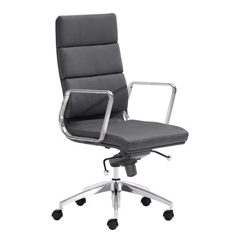 high back leatherette office chair z892 in black office