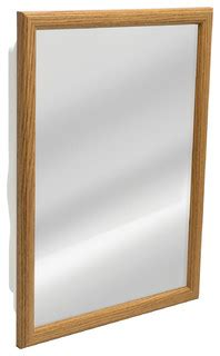 Zenith Medicine Cabinet Rona by Zenith Oak Framed Medicine Cabinet Contemporary