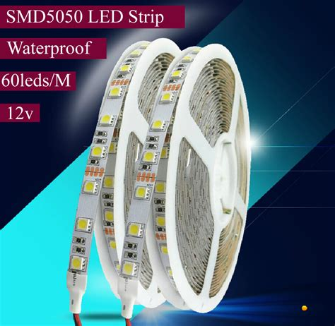 dc 12v 5m 5050 smd waterproof rgb 300 led