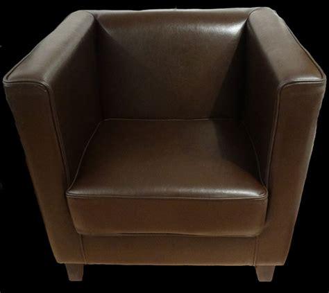 soldes fauteuil club cubus en cuir de bycast longfield 1880