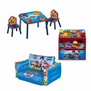 Table Enfant Avec Rangement : pat patrouille pack chambre enfant avec meuble de rangement table chaises et canap gonflable ~ Melissatoandfro.com Idées de Décoration