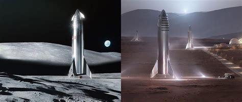 spacexs elon musk  landing starship   moon