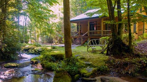 secluded luxury waterfall cabin  internet access