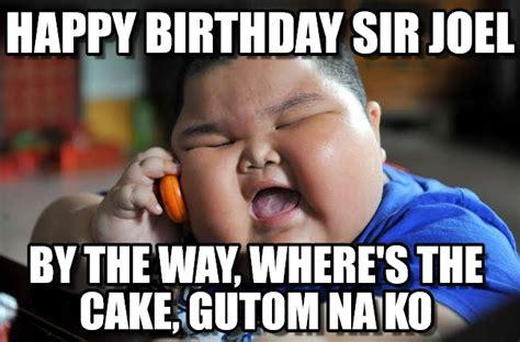 Asian Birthday Meme - happy birthday sir joel asian fat kid meme on memegen